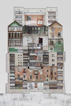 architectural collages Genius Loci by Anastasia Savinova