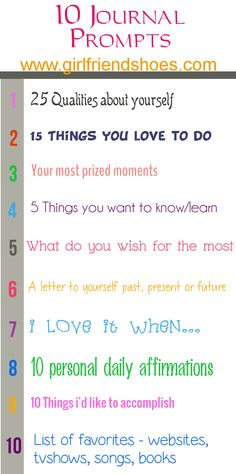 10 Journal Prompts