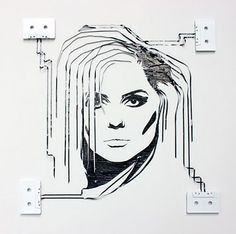 Debbie Harry of Blondie made with tape
