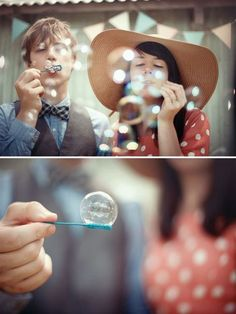 Magnolia Rouge: Whimsical Encore Engagement Shoot from A Couple of Night Owls