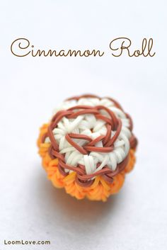 Learn how to make an adorable Rainbow Loom Cinnamon Roll. This charm looks good enough to eat!
