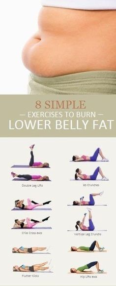 Belly Fat Workout - 8 Simple Exercises to Lose Lower Belly Fat-Dieting and exerc. Belly Fat Workout – 8 Simple Exercises to Lose Lower Belly Fat-Dieting and exercise go hand in ha Body Fitness, Fitness Diet, Fitness Motivation, Health Fitness, Fitness Plan, Physical Fitness, Health Club, Fitness Hacks, Physical Exercise