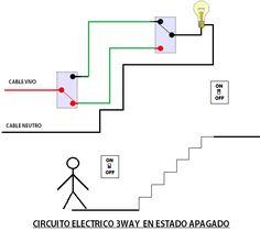circuito de tres vias o 3way para controlar luz en escalera-1