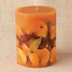 "Rosy Rings Spicy Apple 6.5"" Round Candle"