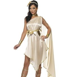 This sexy Athena Greek Goddess Costume features ancient Greek style dress  with rope   leaf belt ddec2d846b83