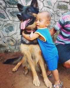 Bedingungslose Liebe. | 19 Fotos von Hunden und Kindern, die zusammen einfach wahnsinnig süß sind