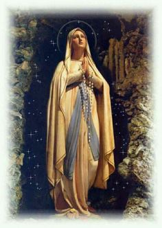 Virgin Mary Art, Virgin Mary Statue, Blessed Mother Mary, Blessed Virgin Mary, St Therese Prayer, Santa Bernadette, Fatima Prayer, Frozen Pictures, Images Of Mary