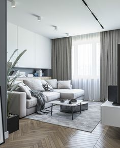 Enhance Your Senses With Luxury Home Decor Apartment Interior, Apartment Design, Interior Design Living Room, Living Room Designs, Living Room Modern, Home And Living, Living Room Decor, Small Living, Cortina Wave