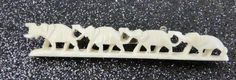 Vintage Celluloid Hand Carved ELEPHANT1930's Brooch/Pin #Unbranded