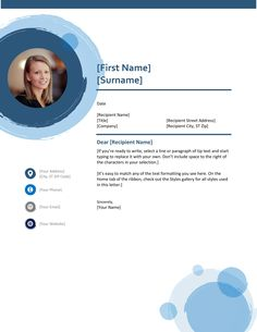 Template Resume CV match with Cover Letter Circle Blue Theme to make your Curriculum Vitae stand up and HRD will pick you up to upcoming interviews! Cv Template, Resume Templates, Cover Letter For Resume, Resume Cv, First Names, Stand Up, Curriculum, Interview, Web Design