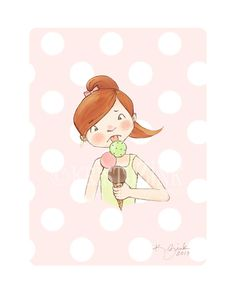 Girl with Ice Cream Cone by KristyZink