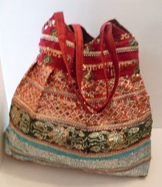 Great Vintage BoHo Embroidered &  Sequin by MMJewelryCollection, $34.95