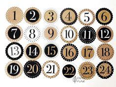 Geschenkanhänger Zahlen Adventskalender. Paperflair.de.✔ Versandkostenfrei ab 50€ Advent Calenders, Diy Advent Calendar, Countdown Calendar, Planner Stickers, Book Bin Labels, Kalender Design, Calendar Numbers, First Fathers Day Gifts, Printable Numbers