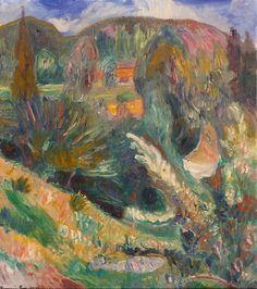 Sommerlandskap by Thorvald Erichsen, 1917 Edvard Munch, Image, Landscapes, Paintings, Artists, Google, Photos, Modern Art, Paisajes