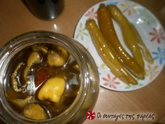 Great recipe for Pickled bull's horn peppers. Pickled peppers are one of the best accompaniments for pulses and not only and a very popular in all parts of Greece traditional way to preserve vegetables. Recipe by Bull Horns, Cow Horns, Fermented Foods, Preserves, Vegan Vegetarian, Pickles, Great Recipes, Cucumber, Pickling
