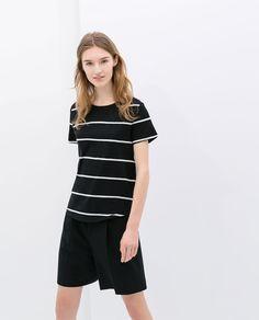 T-Shirt Coton Organique Zara Organic Cotton T Shirts, Cotton Tee, Zara Official Website, Pretty Outfits, Pretty Clothes, Coton Biologique, Zara Women, Style Guides, Short Sleeve Dresses