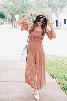 Lush Clothing Stripe Jumpsuit | 9 Jumpsuits Far From Boring #summerfashion #outfitideas #ontheblog #summertyle