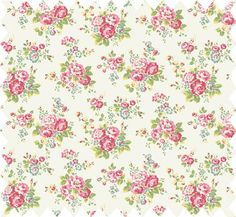 Spray Flowers Oilcloth (desk cover)