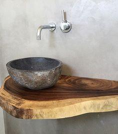 Ob Treibholz, Rustikales Altholz Oder Lebhafte Waschtische Aus Massivholz  Mit Baumkante. Hier Können Sie