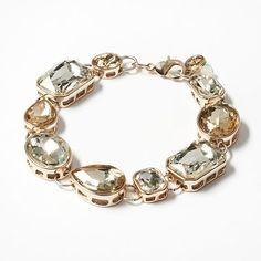 Simply Vera Vera Wang Gold Tone Simulated Crystal Bracelet