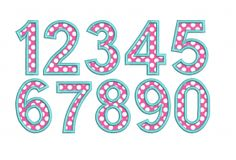 Applique_Numbers_btq ..     Includes 3 inch and 4 inch sizes.