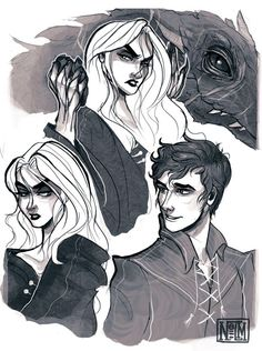 Obsessed with this Dorian & Manon (and Abraxos!!!!) fan art.