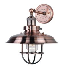 Trent Austin Design Aristocrat 1-Light Wall Sconce Base Finish: Antique Copper, Bulb: Not Included