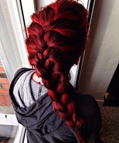 Then you can show it off with your hair color! Try these 110 Feiry red hair ideas to look fierce and flirty! Pretty Hairstyles, Braided Hairstyles, Hairstyle Ideas, Wedding Hairstyles, Bright Red Hair, Cool Hair Color, Hair Colors, Deep Red Hair Color, Dream Hair