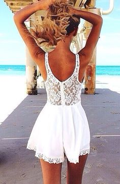 white romper. I would prefer this to be a shirt. I don't like shorts. Don't ask me why
