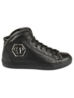Super Dothan Leather Mid-Top Trainers, 02K Nero