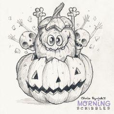 Pumkin Party!!! ✨✨ #morningscribbles #halloween #october