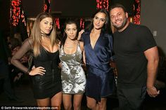 Let's party: Kourtney enjoyed the company of friends and good food at this bash