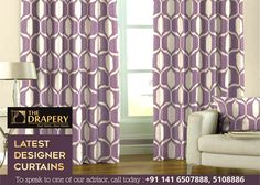 Choose from a wide range of printed fabrics and other designer creating a perfect backdrop for your exciting furniture combination. Call Now: 5108886 Buy Curtains Online, Home Curtains, Curtain Designs, Drapery, Backdrops, Fabrics, Range, Printed, Furniture
