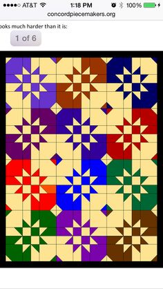 Disappearing hour glass handout with other disappearing blocks (pinwheel and nine patch)