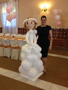 Muñeca de globos de Comunión!!