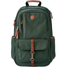 Timberland Walnut Hill Backpack (1.775 ARS) ❤ liked on Polyvore featuring men's fashion, men's bags, men's backpacks, darkest spruce, mens leather backpack, mens travel backpack and mens laptop backpack