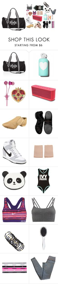 """What's In My Dance Bag?"" by krissyk-15 on Polyvore featuring bkr, Bandai, iLuv, Capezio, Sansha, NIKE, Forever 21, Ivy Park, Sweaty Betty and New Look"