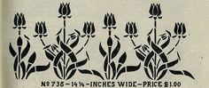 Mission Style/Arts & Crafts Tulip Stencil.
