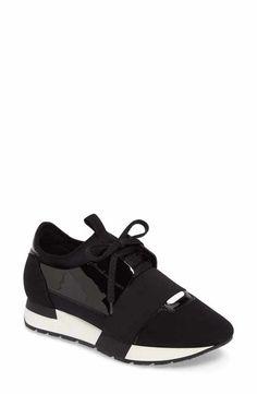 buy online 1d3b3 82cac Balenciaga Trainer Sneakers (Women) Zapatos De Balenciaga, Zapatillas De  Deporte Negras, Zapato