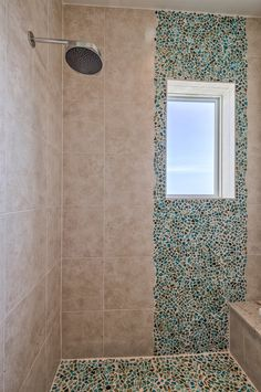 Bathroom Tile Ideas Mosaic one of the most unique #color blocking / #ombre #tile projects we