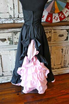 Vintage Black and Pink Southern BELLE Dress by VintageSocialClub, $55.00