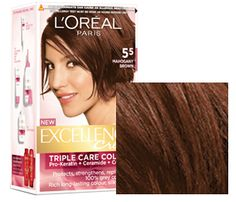 Mahogany Brown Excellence by L'Oréal Paris Loreal Hair Color Brown, Brown Hair Color Shades, Brown Hair Colors, Hair Colour, Soft Autumn Makeup, Fall Makeup, Best Bride, Mahogany Brown, Dark Autumn