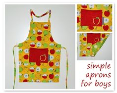 grapes and hearts: Super simple apron for kids.