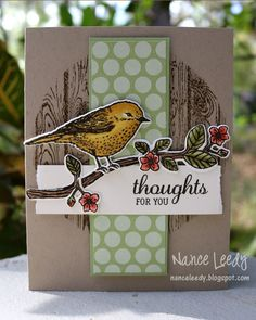 Canopy Crafts is the blog of Nance Lempinen Leedy, independent demonstrator for Stampin' Up featuring handmade cards.