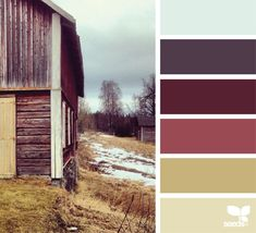 Love this rustic color palette