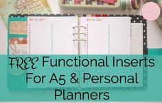 FREE Functional Inserts For A5                              …