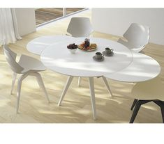 Curva Round White Gloss Extending Dining Table House Ideas Pinterest Rounding And Top