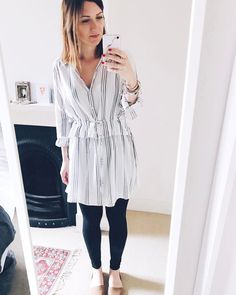 White Shirt Dress by Ecote at Urban Outfitters. Hannah 🌿 (@hannahandtheblog) on Instagram