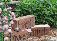 DIY Brick Garden Markers