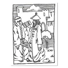 Medieval Disputation, Print by Yiddy Lebovits – Matana Boutique